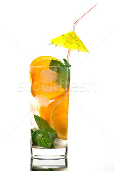 Stock fotó: Mojito · narancs · koktél · szemüveg · zöld · citrom