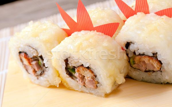 Japon sushi geleneksel füme balık deniz Stok fotoğraf © fanfo