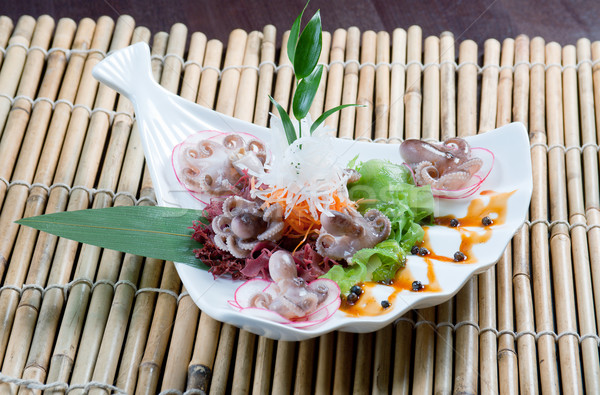 mixed seafood Chinese style Stock photo © fanfo