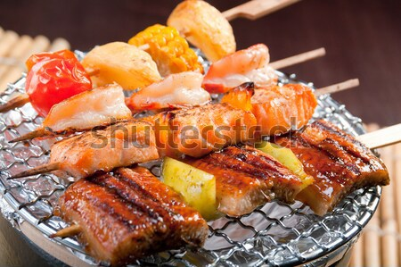 Japanese skewered  seafoods  Stock photo © fanfo