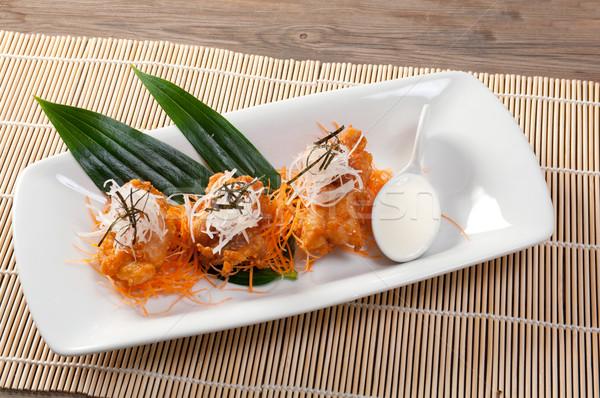 グルメ ローストチキン 日本語 レストラン 鶏 ストックフォト © fanfo