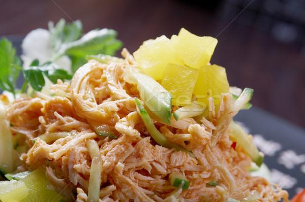 Япония Салат копченый куриные овощей Сток-фото © fanfo