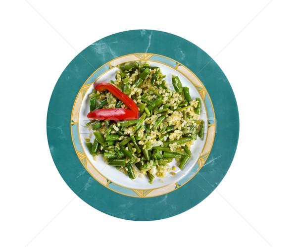 Green beans salad  Stock photo © fanfo