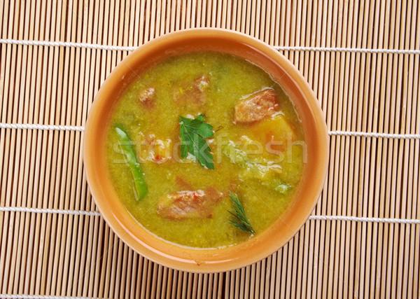 Yeni Meksika yeşil Şili güveç gıda Stok fotoğraf © fanfo