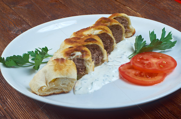 Turkish pide with beef meat  Stock photo © fanfo