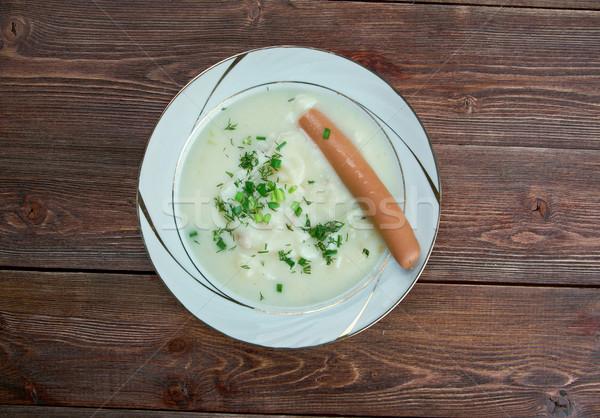 Sachsische Kartoffelsuppe Stock photo © fanfo