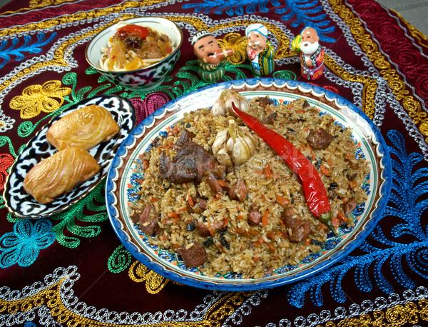 Távolkeleti konyha központi ázsiai konyha ázsiai főzés Stock fotó © fanfo