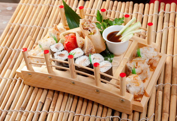 Assorted sushi Japanese food  Stock photo © fanfo