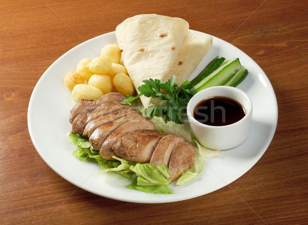 Сток-фото: утки · китайский · стиль · продовольствие · нефть