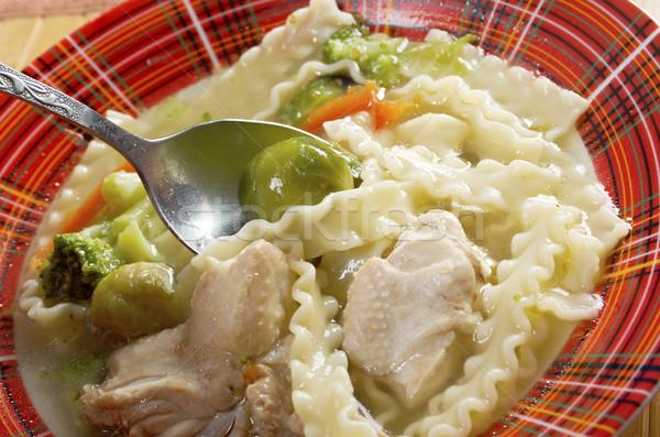 Brodo di pollo verdura pollo fatto in casa zuppa Foto d'archivio © fanfo