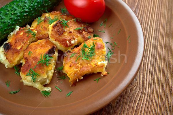 Bűn tyúk étel vidék ebéd gyors Stock fotó © fanfo