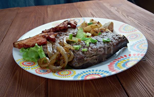 Wątroba boczek naczyń grillowany żywności Stany Zjednoczone Zdjęcia stock © fanfo