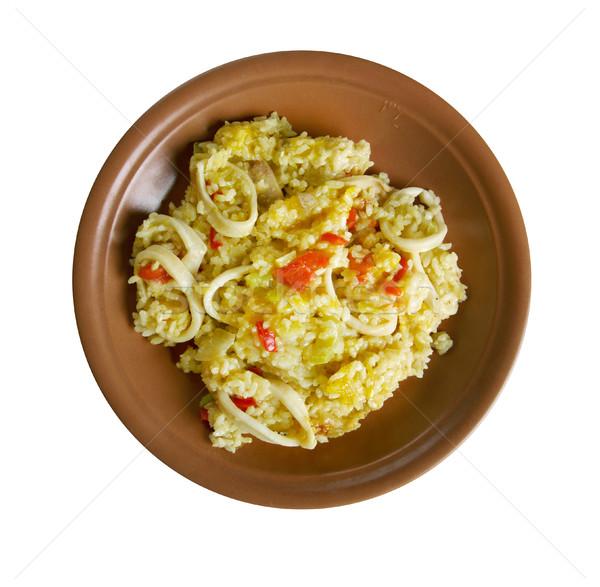 Inktvis pompoen zoete paprika plantaardige maaltijd Stockfoto © fanfo
