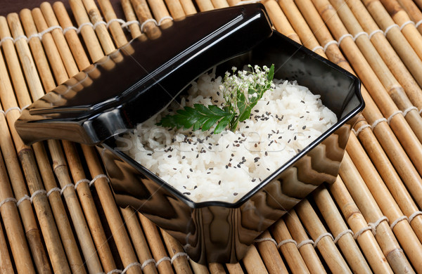 Bowl of cooked rice  Stock photo © fanfo