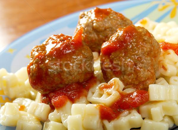 Spaghetti and meat balls  Stock photo © fanfo
