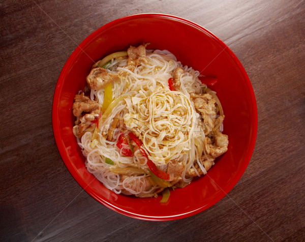 pork slice  and noodle Stock photo © fanfo