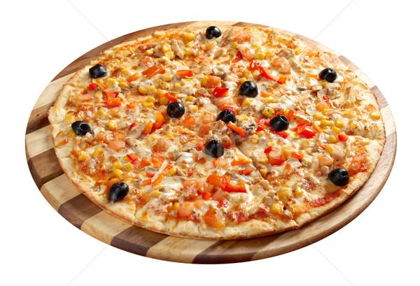 Pizza vejetaryen İtalyan mutfak stüdyo restoran Stok fotoğraf © fanfo