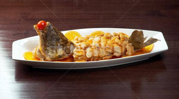 baked perch.rockfish Stock photo © fanfo
