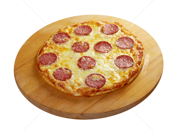 homemade  pizza  Pepperoni.Closeup  Stock photo © fanfo