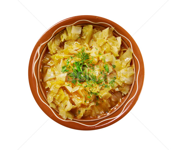 dish with cabbage stew Stock photo © fanfo