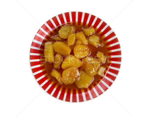 Cristalizado doce batatas fundo sobremesa Foto stock © fanfo