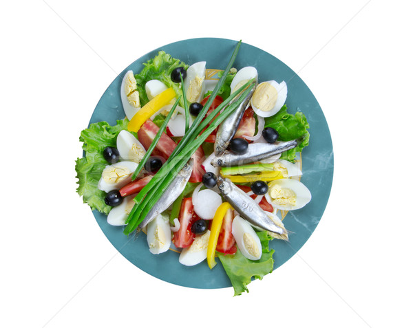 Nicoise Salad with anchovies Stock photo © fanfo