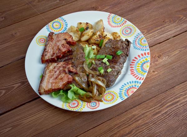 Karaciğer domuz pastırması yemek ızgara gıda Amerika Birleşik Devletleri Stok fotoğraf © fanfo