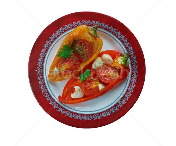 Mükemmel ışık öğle yemeği salata Stok fotoğraf © fanfo