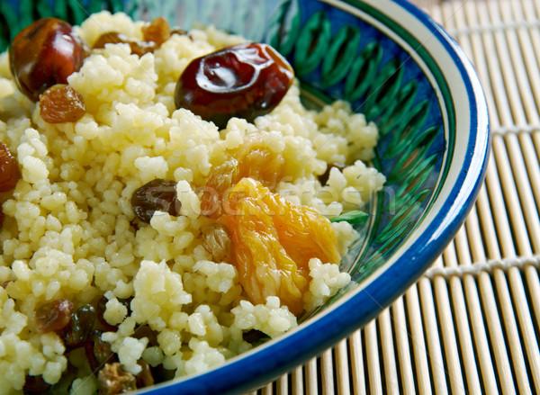 Mauritania dish  couscous Stock photo © fanfo