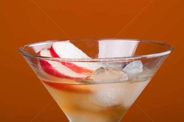 Kozmopolita koktél ital citromsárga szemüveg italok Stock fotó © fanfo