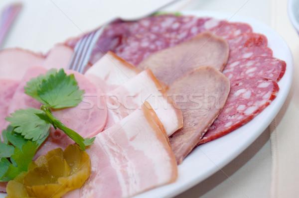 Mooie voedsel arrangement groenten ondiep Stockfoto © fanfo