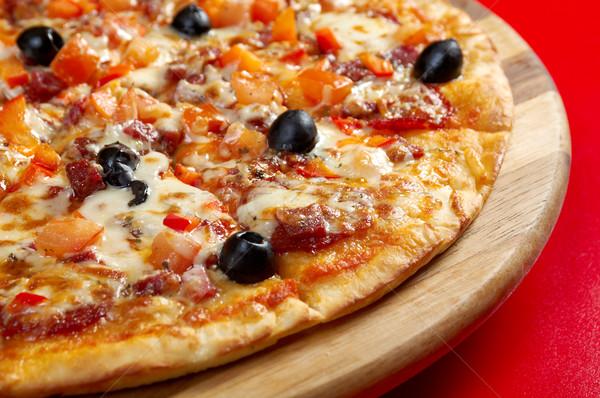 ピザ ペパロニ イタリア語 キッチン スタジオ レストラン ストックフォト © fanfo