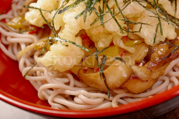 Noodles with mushroom Stock photo © fanfo