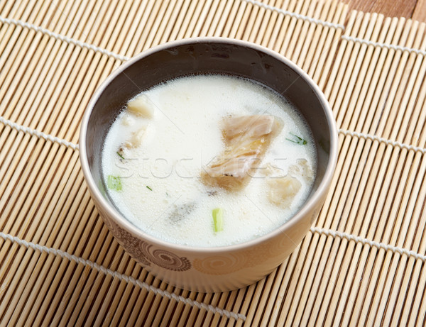 New England clam chowde Stock photo © fanfo