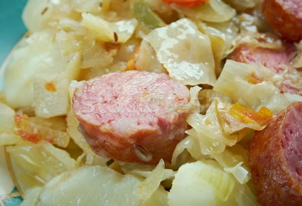 Октоберфест тушеное мясо колбаса картофель продукт типичный Сток-фото © fanfo