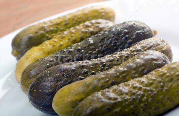 корнишон соленья мелкий продовольствие зеленый Сток-фото © fanfo
