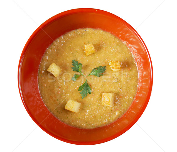 Ajo verano cena almuerzo sopa vegetales Foto stock © fanfo