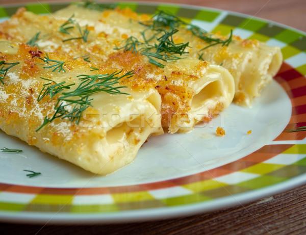 Sodrófa közelkép étel piros ebéd gyors Stock fotó © fanfo