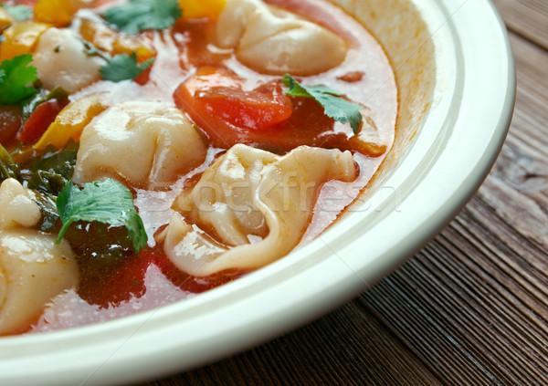 Foto stock: Tortellini · sopa · italiano · inverno · ravioli · jantar
