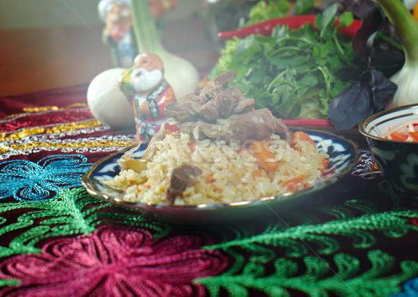 Uzbek  pilaf . Stock photo © fanfo