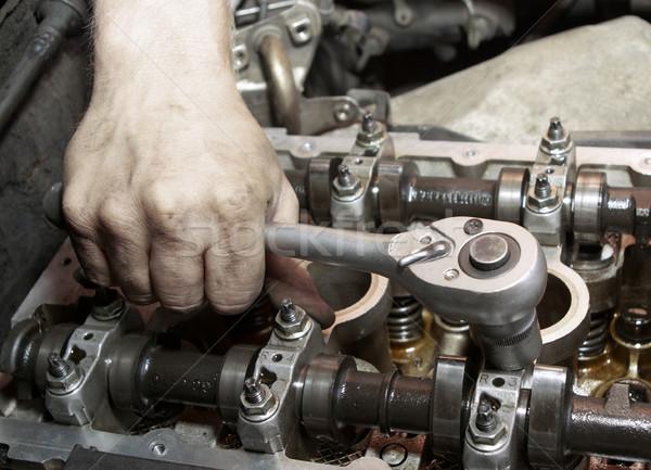 Javítás gép kéz szerszám autómobil szolgáltatás Stock fotó © fanfo