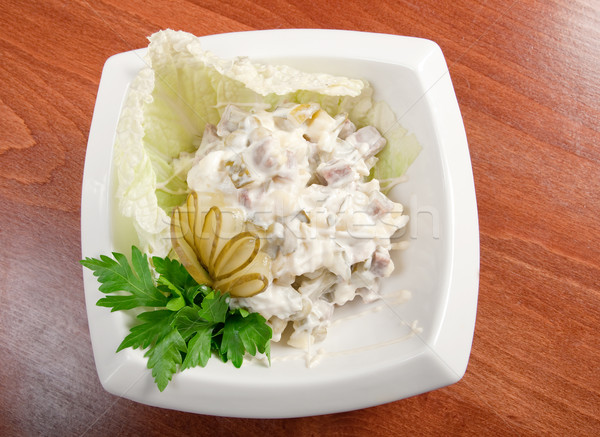 italian saladon plate  Stock photo © fanfo