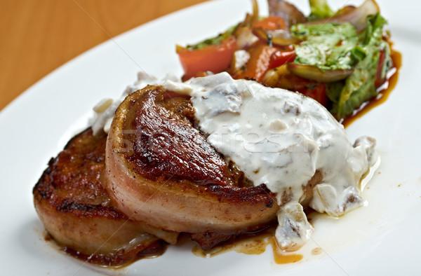 Grelhado carne filé molho cozinha Foto stock © fanfo