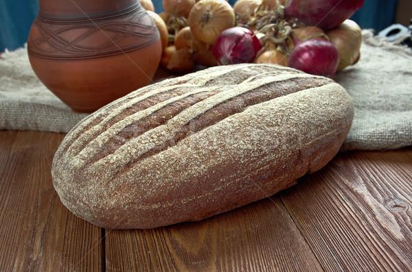 Rustik çavdar ekmek taze geleneksel Stok fotoğraf © fanfo