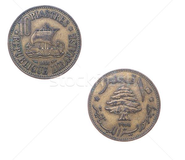Eski madeni para Lübnan iş finansal sikke Stok fotoğraf © fanfo
