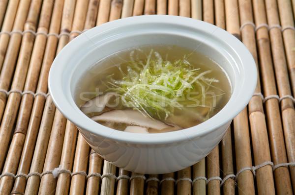ストックフォト: 中国語 · シーフード · ヌードル · スープ · 伝統的な · 食品