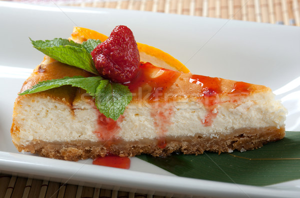チーズケーキ デザート クローズアップ 食品 ケーキ 緑 ストックフォト © fanfo