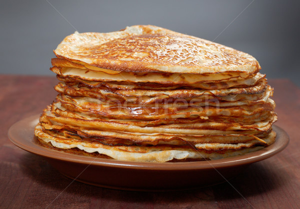 stack of pancakes - russian traditional food Stock photo © fanfo