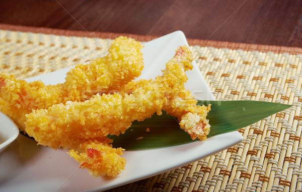 Garnaal kom japans lunch schotel Stockfoto © fanfo