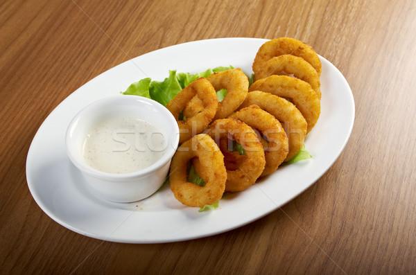 Onion Rings Breaded Stock photo © fanfo